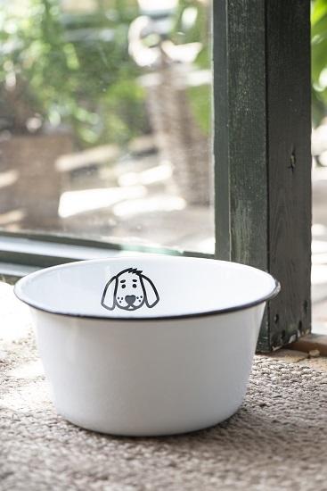 medium-vintage-style-white-enamel-pet-dog-food-water-bowl-by-ib-laursen