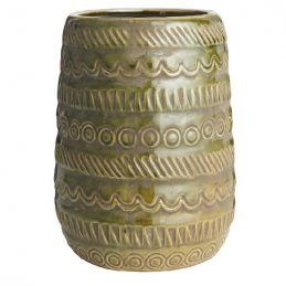 olive-vase-with-pattern-by-ib-laursen