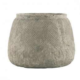concrete-pot-hanoi-with-net-pattern-by-ib-laursen