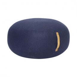 large-round-blue-wool-pouf-with-leather-handle-strap-by-hubsch