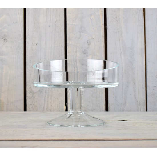 handmade-clear-glass-display-stand-plate-bowl-15-cm