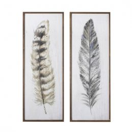 set-of-2-large-wall-art-framed-illustration-feathers-104-cm-by-parlane