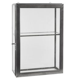 wall-hanging-storage-glass-cabinet-with-1-glass-shelf-glass-door-by-ib-laursen
