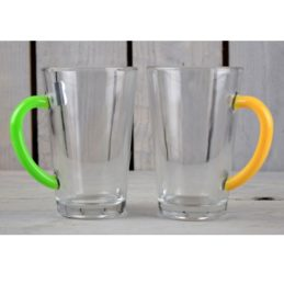 set-of-2-glasses-tea-mugs-multicoloured-handle-300ml-yellow-green