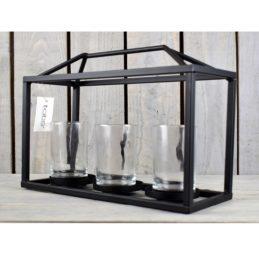 black-metal-box-frame-three-candle-holder-lantern-planter