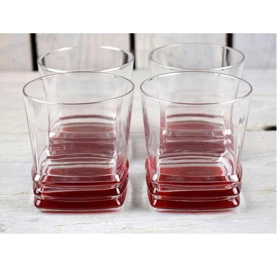 40578e207ec Set Of 4 Whiskey Glasses Nice Red Bottoms