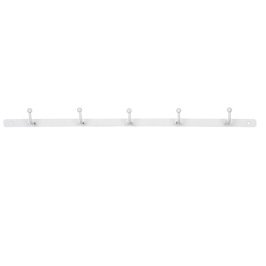 white-metal-wall-mounted-coat-rack-with-5-hooks-by-ib-laursen