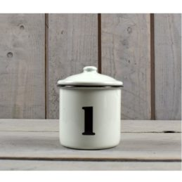farmhouse-style-white-black-enamel-distressed-kitchen-storage-canister-jar-8-cm