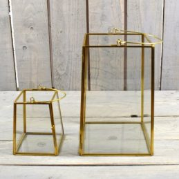 brass-and-glass-lantern-set-of-2-tealight-pillar-candle-by-hubsch