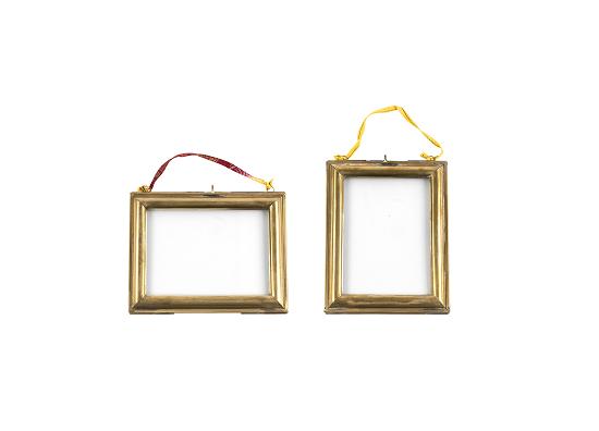 Kariba Antique Brass Photo Frame Hanging by Nkuku / Portrait 4x6