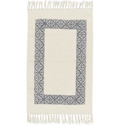 cream-rug-with-dark-blue-frame-100-cotton-by-ib-laursen