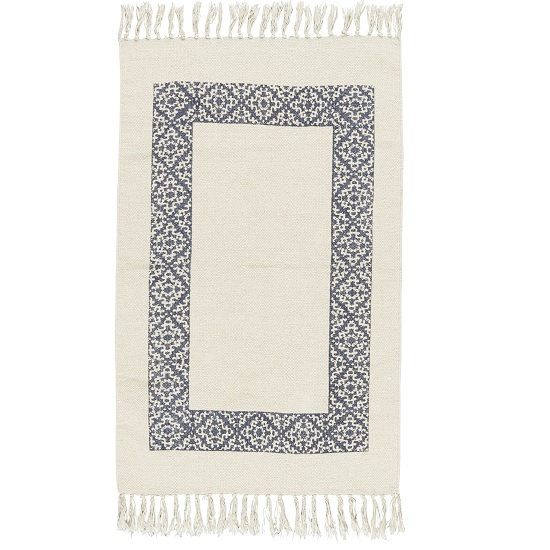 cream-rug-with-dark-blue-frame-100-cotton-by-ib-laursen