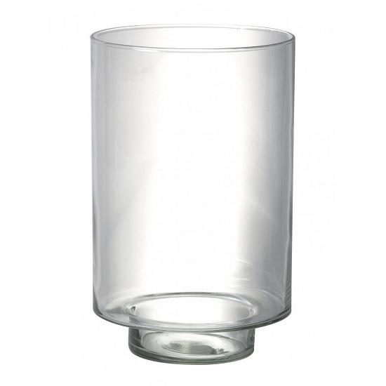 recycled-glass-hurricane-lantern-vase-pillar-candle-holder-28-cm-by-parlane