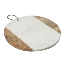 cutting-board-with-acacia-wood-white-marble-29-cm-by-parlane