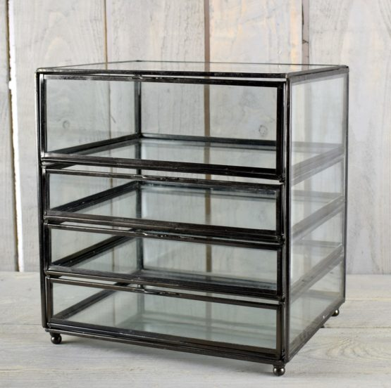 metal-and-glass-display-jewellery-trifle-box-with-drawers-by-hubsch