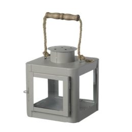 grey-metal-lantern-tealight-holder-by-parlane-21-cm
