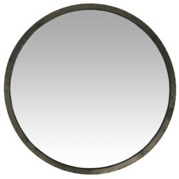 Industrial-round-wall-hanging-mirror-with-black-rim-by-ib-laursen-60-cm