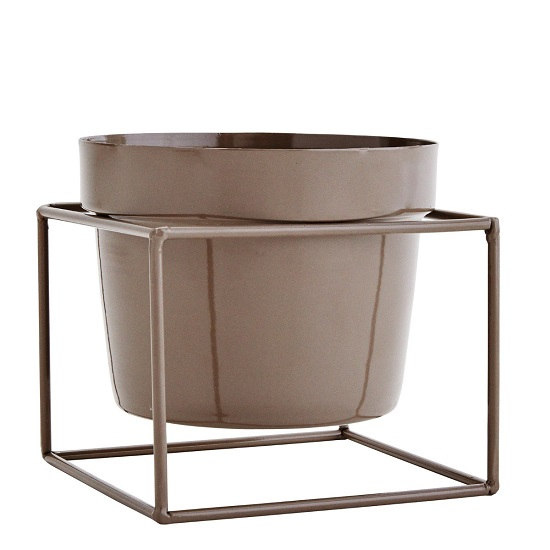 taupe-flower-pot-with-iron-stand-by-madam-stoltz