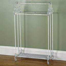 white-victorian-free-standing-towel-rail-with-shelf-by-originals