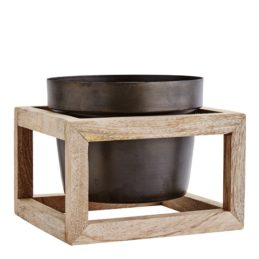 black-flower-pot-with-wooden-stand-by-madam-stoltz
