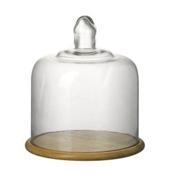 glass-display-cover-dome-cloche-with-wooden-base-by-parlane-25-cm
