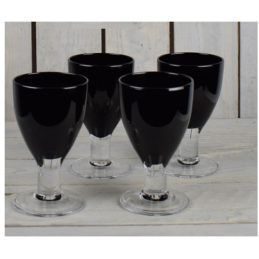 set-of-4-black-handmade-wine-goblets-glasses-350-ml