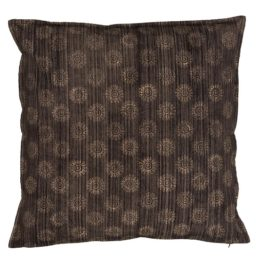 cushion-cover-black-with-brown-sun-handprinted-50x50-cm-by-ib-laursen
