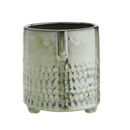 green-stoneware-flower-pot-with-face-imprint-by-madam-stoltz