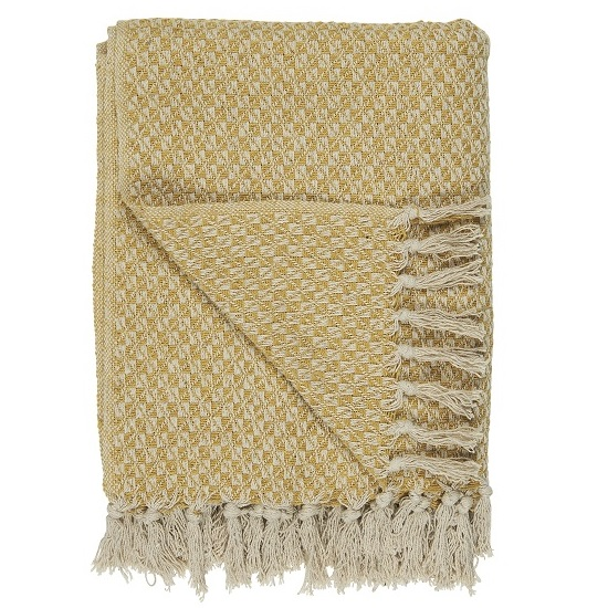 100-cotton-throw-cream-and-mustard-blanket-with-pattern-by-ib-laursen