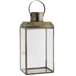 antique-brass-glass-lantern-pillar-candle-holder-with-handle-43-cm-by-madam-stoltz