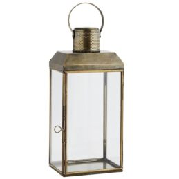 antique-brass-glass-lantern-pillar-candle-holder-with-handle-36-cm-by-madam-stoltz