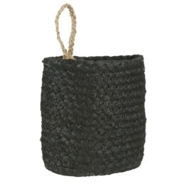 black-jute-basket-with-strap-by-ib-laursen