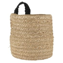 natural-jute-and-sea-grass-basket-with-black-strap-by-ib-laursen