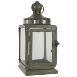 dusty-green-metal-hanging-lantern-pillar-candle-holder-height-25-cm-ib-laursen
