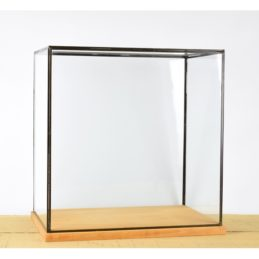 hand-made-large-glass-and-black-metal-frame-display-showcase-box-with-wooden-base-42-cm