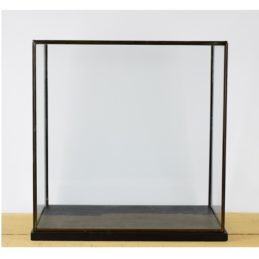 hand-made-large-glass-and-black-metal-frame-display-showcase-box-with-black-wooden-base-42-cm