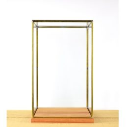 hand-made-glass-and-brass-metal-frame-display-showcase-box-with-wooden-base-42-cm