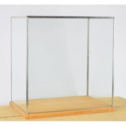 hand-made-large-glass-and-silver-metal-frame-display-showcase-box-with-wooden-base-42-cm