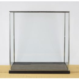 hand-made-large-glass-and-silver-metal-frame-display-showcase-box-with-black-wooden-base-42-cm