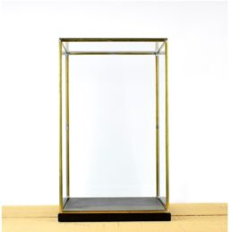 hand-made-glass-and-brass-metal-frame-display-showcase-box-with-black-wooden-base-42-cm