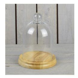 small-mouth-blown-glass-display-cover-cloche-bell-dome-centrepiece-with-base-23-5-cm