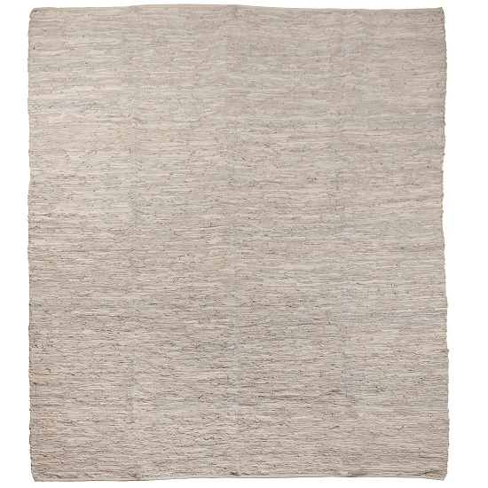 extra-large-light-grey-leather-rug-250-x-300-cm-by-ib-laursen