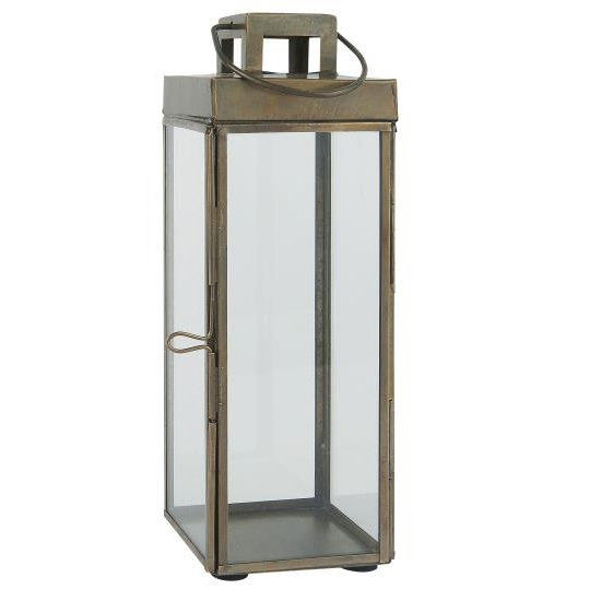Square Glass Lantern Pillar Candle Holder With Hook By Ib Laursen 25 5 Cm Ebay