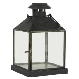black-square-glass-lantern-pillar-candle-holder-with-hook-25-cm-by-ib-laursen