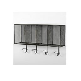 industrial-wall-mounted-mesh-storage-shelf-with-4-hooks-by-originals