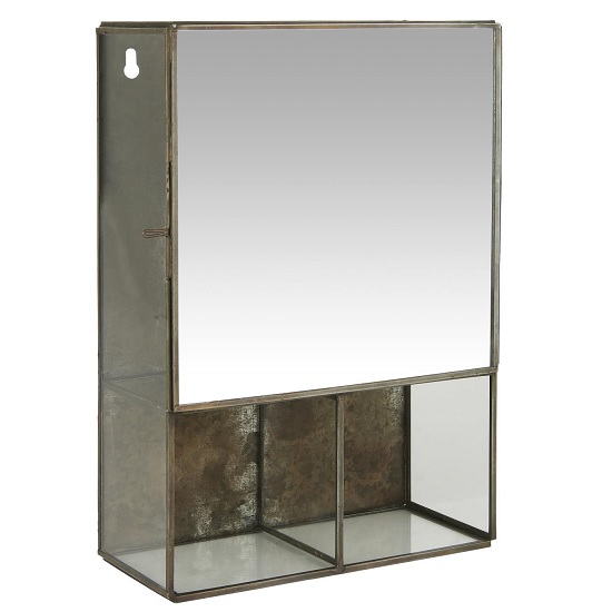 Black Wall Hanging Storage Cabinet With, Wall Hanging Mirror With Storage