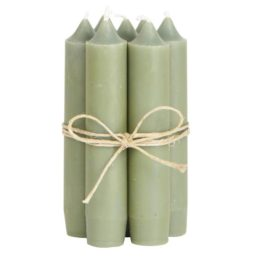 set-of-6-short-dinner-olive-candles-by-ib-laursen