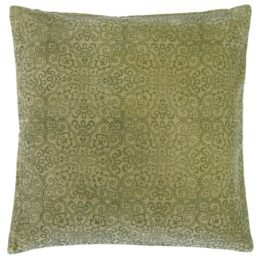 velvet-green-cushion-cover-with-printing-50x50-cm-by-ib-laursen