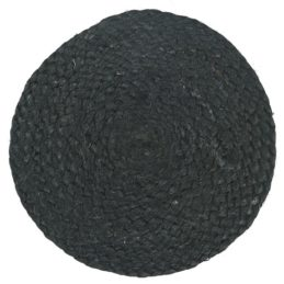 jute-round-coaster-25-cm-black-set-of-2-by-ib-laursen