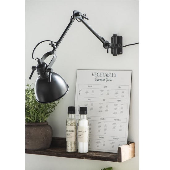 black-lamp-2-arms-for-wall-mounting-swivelable-by-ib-laursen